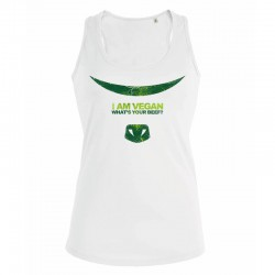 WHAT'S YOUR BEEF? ladies tank top