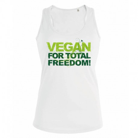 VEGAN FOR TOTAL FREEDOM ladies tank top