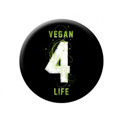 VEGAN 4 LIFE button