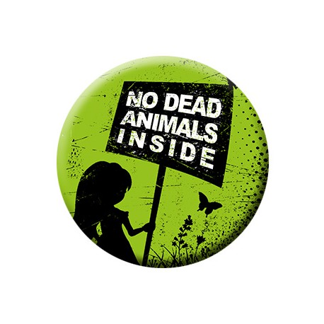 NO DEAD ANIMALS INSIDE button
