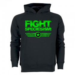 FIGHT SPECIESISM! men's hoodie