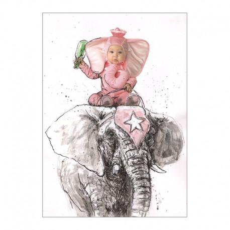 BABY zeichnung in mischtechnik