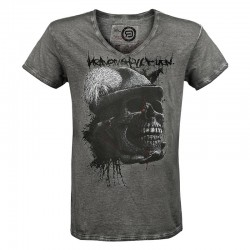 HUNTERS WILL BE HUNTED men's v-neck-shirt (by EMP)