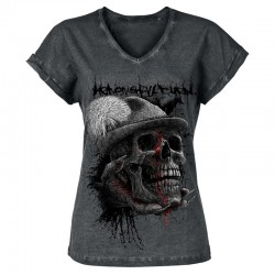 HUNTERS WILL BE HUNTED ladies v-neck-shirt (by EMP)