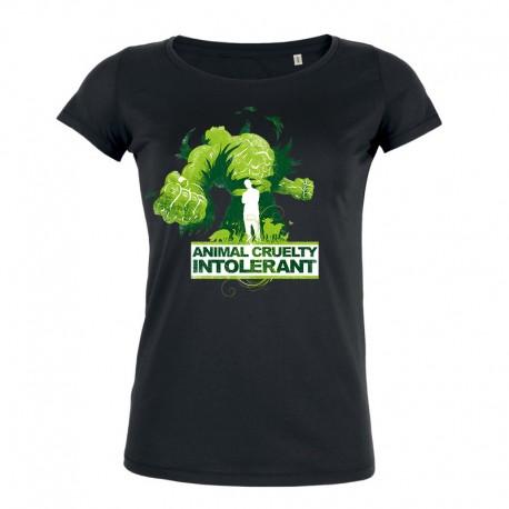 ANIMAL CRUELTY INTOLERANT ladies t-shirt