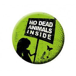NO DEAD ANIMALS INSIDE button