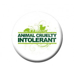 ANIMAL CRUELTY INTOLERANT button